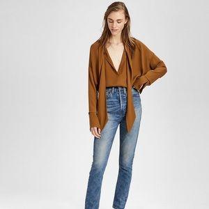 theory 100% silk Scarf shirt size P